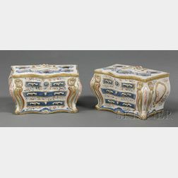Pair of Chinese Export Polychrome Enameled and Parcel-gilt Crocus Pots