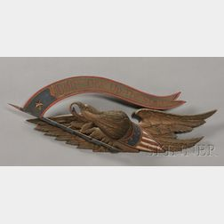 Bellamy-style Carved and Painted Eagle Plaque
