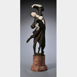 After Peter or Paul Tereszczuk (Austrian, Late 19th/Early 20th Century)       Bronze and Ivory Dancer