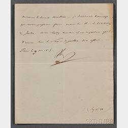 Napoleon I (1769-1821) Letter Signed, 9 June 1815.