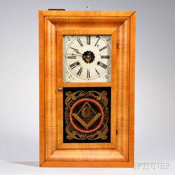 """Seth Thomas Mahogany """"Masonic"""" Ogee Clock"""