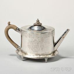 George III Sterling Silver Teapot and Stand