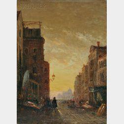 Félix Ziem (French, 1821-1911)      Market Place, Venice