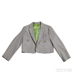 Little Jimmy Dickens     Gray Check Nudie Bolero Jacket