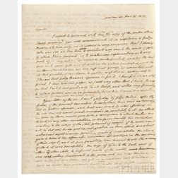 Monroe, James (1758-1831) Autograph Letter Signed, Washington, D.C., 16 December 1815.