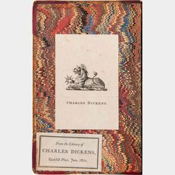 Dickens, Charles (1812-1870) A Christmas Carol,   Charles Dickens's Copy with his Bookplate.
