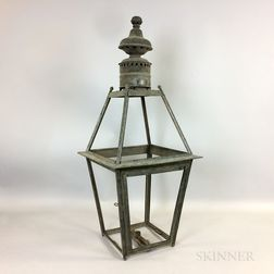 Tufts Brothers Tin Street Lamp Frame