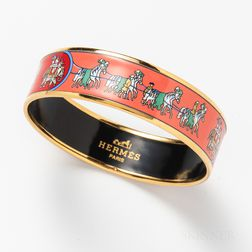 Hermes Enameled Bangle
