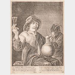 Dutch School, 17th Century, Seven Framed Prints, Including Works Ascribed to Allaert van Everdigen, Nicolaes Berchem, Karel du Jardin,