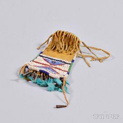 Cheyenne Beaded Hide Strike-a-Light Bag