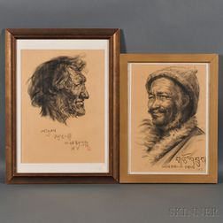 Two Portrait Drawings