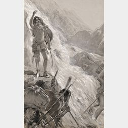 Eric L. (Frederic) Pape (American, 1870-1938)  Not Without a Certain Picturesqueness As It Crossed the Stream/An Ill...
