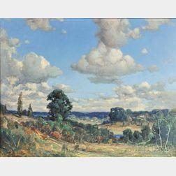 Frederick Mortimer Lamb (American, 1861-1936)      Summer Landscape Vista