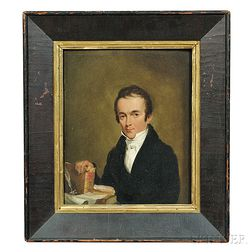 Attributed to Samuel F.B. Morse (New York/Massachusetts/England, 1791-1872)      Portrait of a Minister.