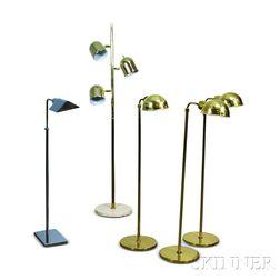 Five Metal Floor Lamps