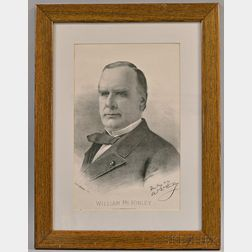 Framed Bufford Sons Engraving Co. Print of William McKinley