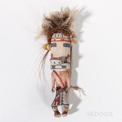 Hopi Polychrome Carved Wood Katsina Doll