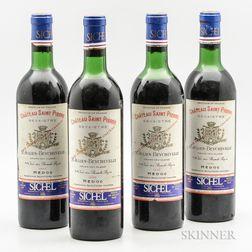 Chateau Saint Pierre (Beychevelle) 1970, 4 bottles