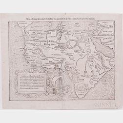Africa. Sebastian Munster (1489-1552) Africa/Libya/Morenland/mit allen Kunigreichen.
