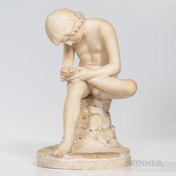 Alabaster Model of Spinario