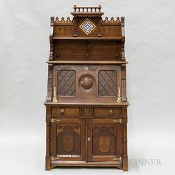 Walnut Eastlake-style Desk