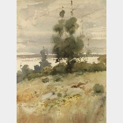 Childe Hassam (American, 1859-1935)  Autumn Landscape
