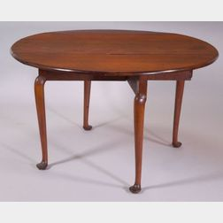 Queen Anne Cherry Drop-leaf Dining Table