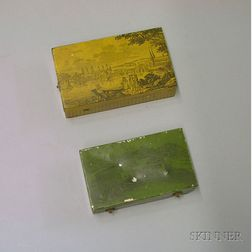 Two Musical Tin Snuff Boxes