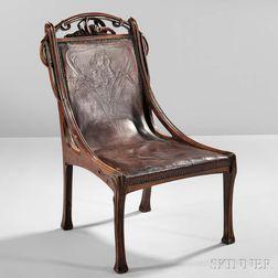 Art Nouveau Chair, Probably Eugène Gaillard