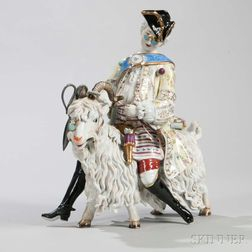 Dresden Polychrome Porcelain Model of a Tailor