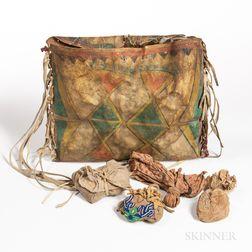 Plateau Painted Parfleche Medicine Bag