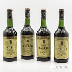 Chateau Talbot 1975, 4 bottles