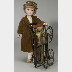 Armand Marseille Bisque Head Doll in Carriage