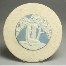 Wedgwood Solid Light Blue Jasper Plaque Depicting Eve