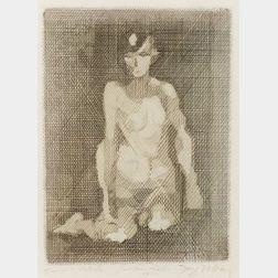 Jacques Villon (French, 1875-1963)  Nu a Genoux