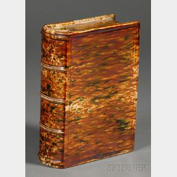Large Bennington Flint Enamel Book Flask