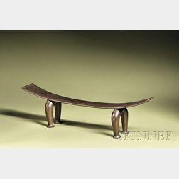 Polynesian Carved Wood Headrest