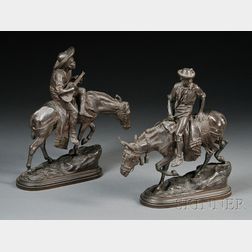 After Isidore Bonheur (French, 1827-1901)      Two Bronzes: Muletier