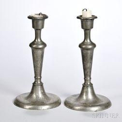 Pair of Pewter Candlesticks