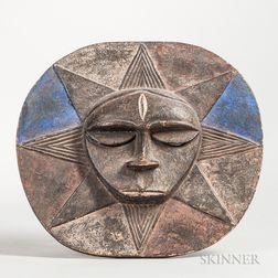 Eket-style Carved Wood Ceremonial Mask