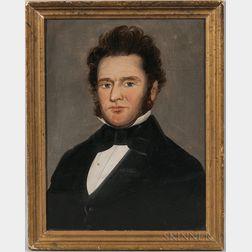 Attributed to William Mathew Prior (Massachusetts/Maine, 1806-1873)       Portrait of a Gentleman
