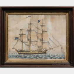American School, Late 18th/Early 19th Century      Portrait of the ship General Washington   of Providence.
