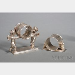 Two Victorian Silverplate Napkin Rings