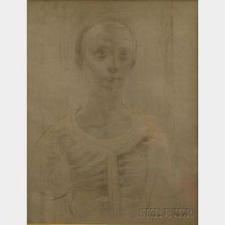 Alfred Milton Duca (American, 1920-1997)      Portrait of a Girl.