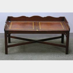 Heritage Henredon Chippendale-style Brass-mounted Mahogany Butler's Tray Table