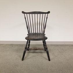 Black-painted Fan-back Windsor Side Chair