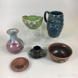 Seven American Ceramic Items