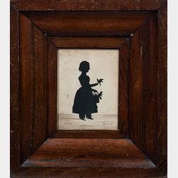 """Cutwork Silhouette of """"Sarah Aged 8Yr.,"""""""