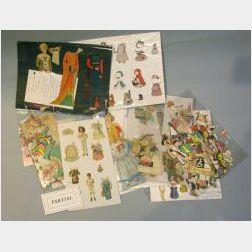 Mixed Lot of Cut Paper Dolls