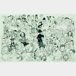 Albert Hirschfeld (American, 1903-2003)      Movieland 1954